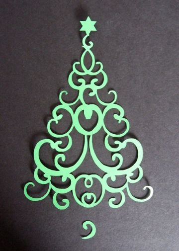 Swirl Christmas Tree Topper 2